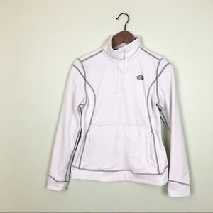 The North Face White Quarter Zip Fleece Pullover